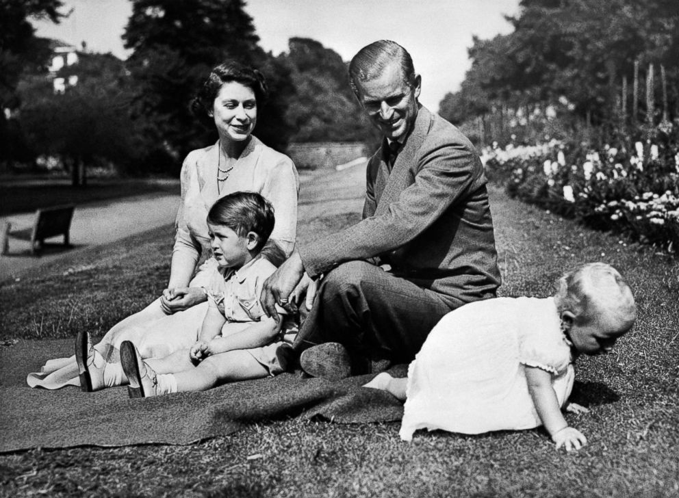 PHOTO: Princess Elizabeth and Philip Mountbatten are photographed with their daughter Anne and son Charles in 1951.