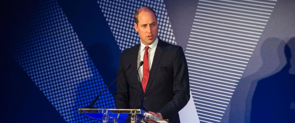 PHOTO: Britains Prince William, Duke of Cambridge, speaks during a ceremony to present the inaugural Legacy Awards on behalf of the Diana Award to twenty young recipients at St James Palace, on May 18, 2017.