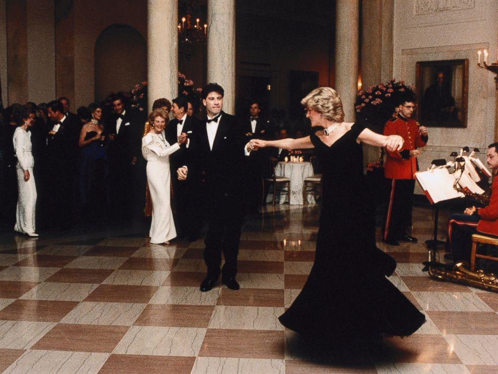 PHOTO: John Travolta twirls Princess Diana on the dance floor while at a White House banquet, on Nov. 9, 1985, in Washington.