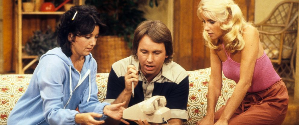 """PHOTO: Joyce Dewitt, Suzanne Somers and John Ritter in the television sitcom, """"Threes Company,"""" in the episode, """"Good Old Reliable Janet"""" which aired on Sept. 19, 1978."""