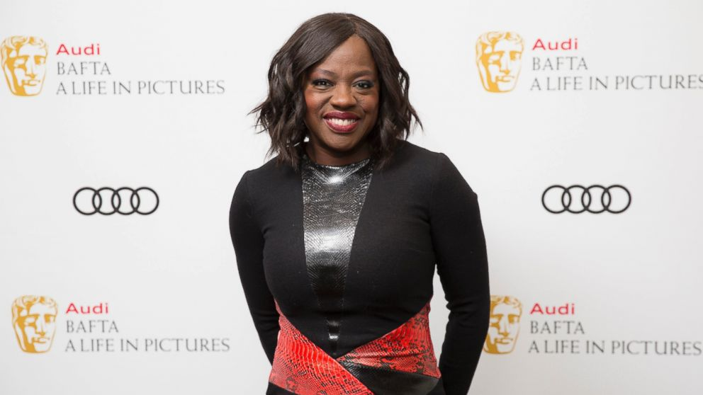 Actress Viola Davis poses for photographers upon arrival at a BAFTA Life in Pictures photo call, at BAFTA headquarters in London, Jan. 15, 2017.