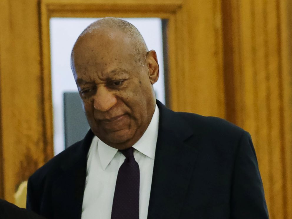 PHOTO: Bill Cosby arrives for his trial on sexual assault charges at the Montgomery County Courthouse, June 6, 2017, in Norristown, Pa.