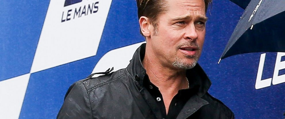 PHOTO: Brad Pitt attends the start of the 84th Le Mans 24-hours endurance race on June 18, 2016 in Le Mans, France.