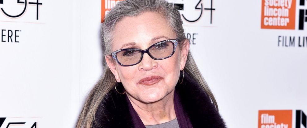 """PHOTO: Carrie Fisher attends the premiere of """"Bright Lights: Starring Carrie Fisher and Debbie Reynolds"""" during the 54th New York Film Festival at Alice Tully Hall, Oct. 10, 2016, in New York City."""