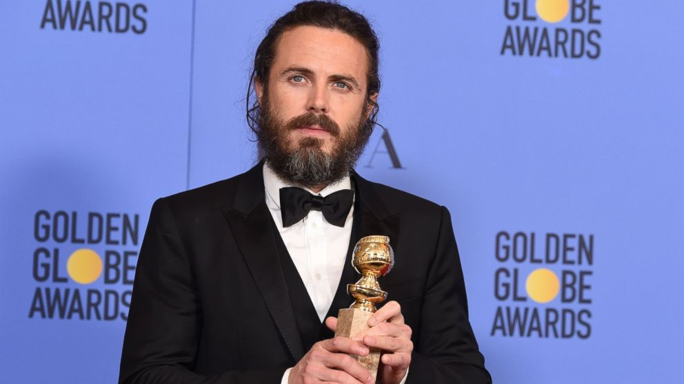Casey Affleck poses in the press room at the 74th Annual Golden Globe Awards held at the Beverly Hilton Hotel, Jan. 8, 2017.