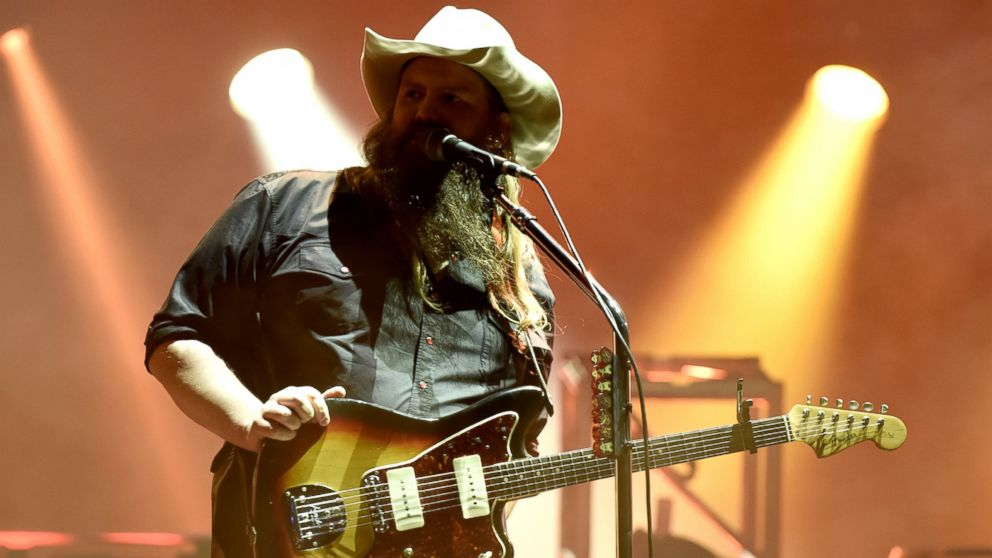 Chris Stapleton performs during the Tortuga Music Festival at the Fort Lauderdale Beach Park, April 8, 2017, in Fort Lauderdale, Florida.