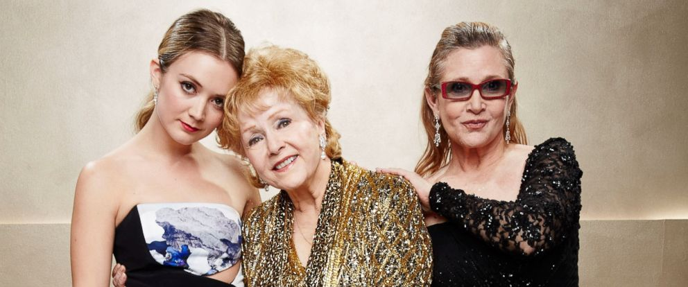 PHOTO: Billie Lourd, Debbie Reynolds and Carrie Fisher are seen at the Annual Screen Actors Guild Awards, Jan. 25, 2015, in Los Angeles.