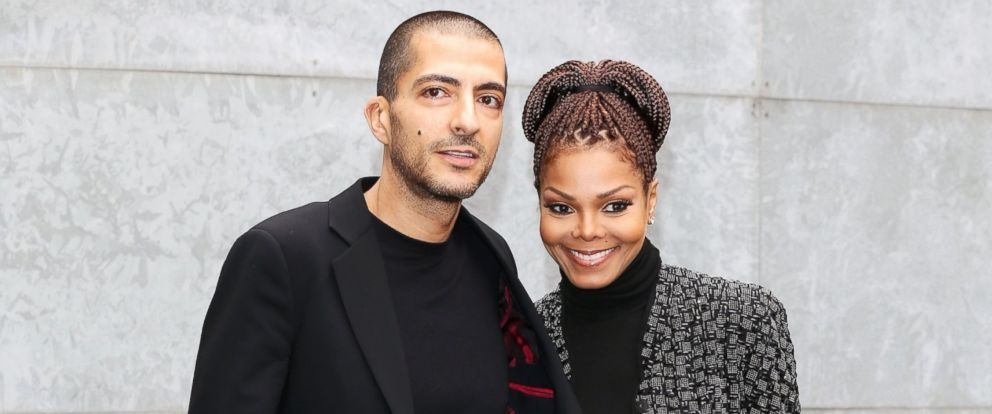 PHOTO: Wissam al Mana and Janet Jackson attend the Giorgio Armani fashion show, Feb. 25, 2013 in Milan.