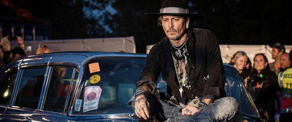 "PHOTO: Actor Johnny Depp introduces his film ""The Libertine"" on day 1 of the Glastonbury Festival 2017 at Worthy Farm, Pilton, June 22, 2017, in Glastonbury, England."