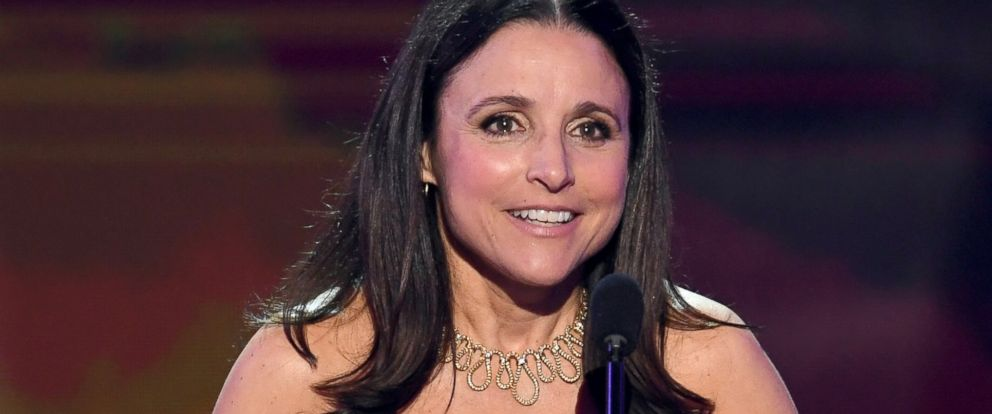 """PHOTO: Julia Louis-Dreyfus accepts Outstanding Performance by a Female Actor in a Comedy Series for """"Veep"""" onstage during The 23rd Annual Screen Actors Guild Awards at The Shrine Auditorium, Jan. 29, 2017, in Los Angeles."""