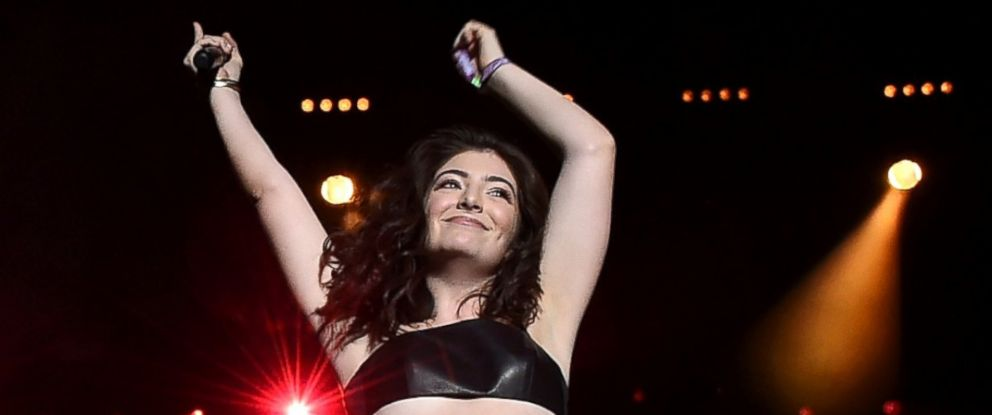 PHOTO: Lorde performs onstage during the Disclosure show on day 2 of the 2016 Coachella Valley Music & Arts Festival Weekend, April 16, 2016, in Indio, California.