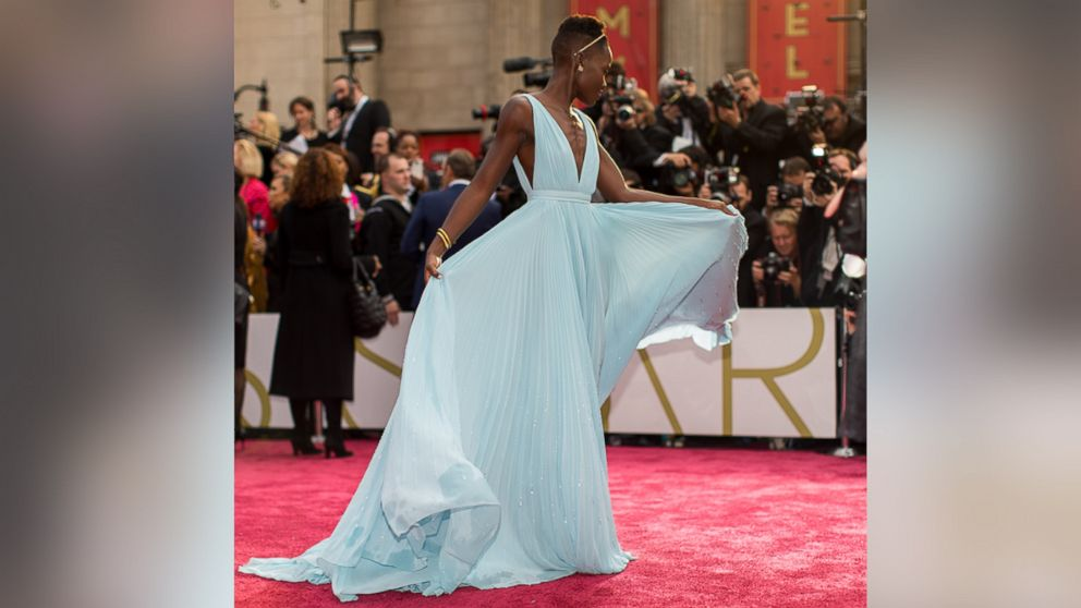 Lupita Nyong'o attends the Oscars at Hollywood & Highland Center, March 2, 2014 in Hollywood, California.