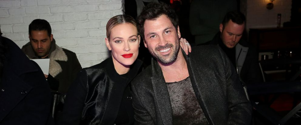 PHOTO: Peta Murgatroyd, left, and Maksim Chmerkovskiy attend the VALENTINNICOLE fashion show during New York Fashion Week at Lovage, Feb. 9, 2017 in New York City.