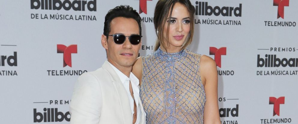 PHOTO: Marc Anthony and Shannon de Lima attend the Billboard Latin Music Awards at Bank United Center, April 28, 2016 in Miami.