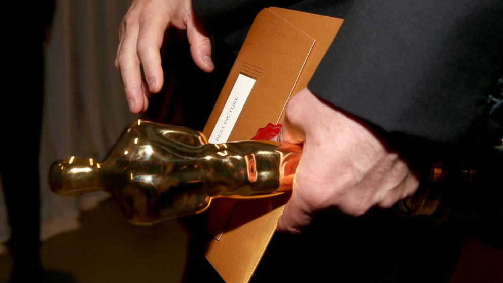 The Oscar statuette for Best Picture is seen backstage during the 87th Annual Academy Awards at Dolby Theatre, Feb. 22, 2015, in Hollywood, California.