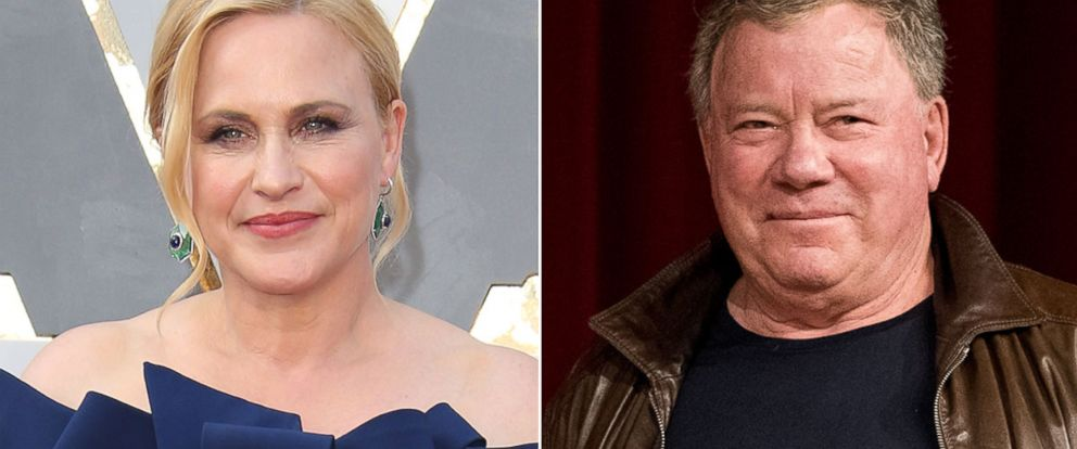 PHOTO: Patricia Arquette in Hollywood, Calif., Feb. 28, 2016; William Shatner in New York, Sept. 4, 2016.