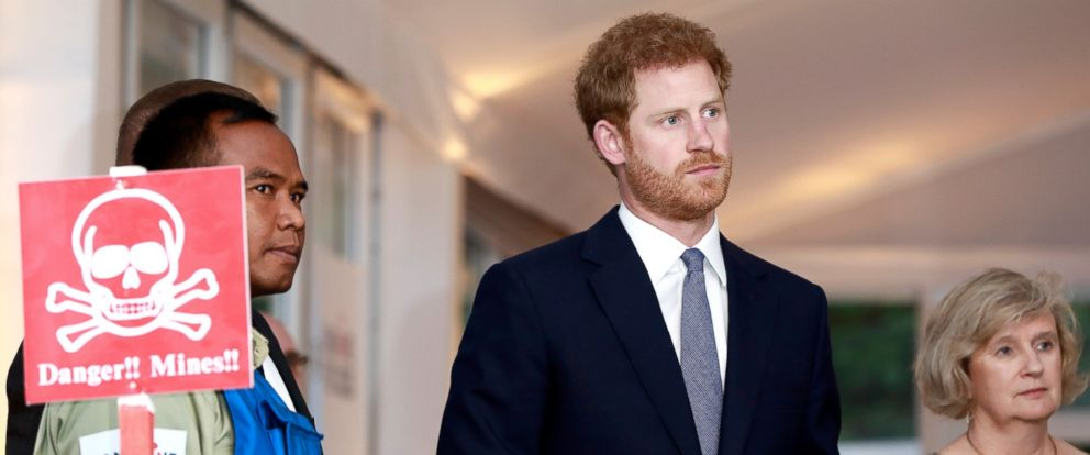 PHOTO: Prince Harry attends The Landmine Free World 2025 reception on International Mine Awareness Day, April 4, 2017, in London.