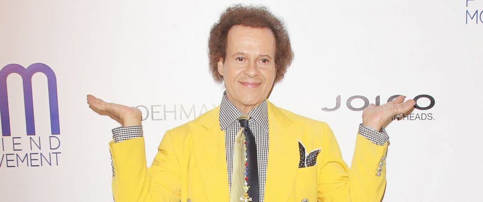 PHOTO: Richard Simmons arrives at the Friend Movement Campaign benefit concert held at El Rey Theatre, July 1, 2013, in Los Angeles.