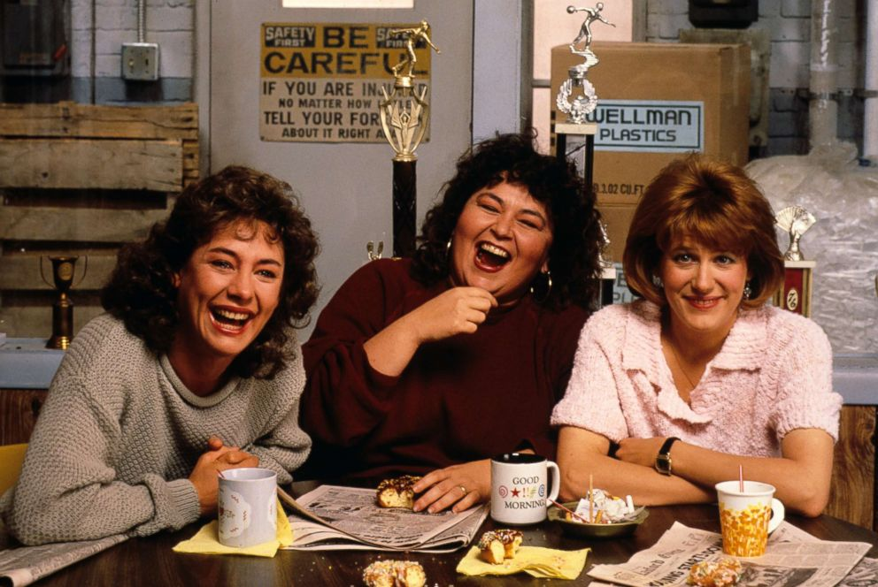 PHOTO:In season one of Roseanne Laurie Metcalf as Jackie, Roseanne Barr as Roseanne and Natalie West as Crystal, Nov. 18, 1988.