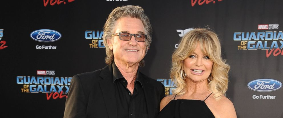 "PHOTO: Kurt Russell and Goldie Hawn attend the premiere of ""Guardians of the Galaxy Vol. 2"" at Dolby Theatre, April 19, 2017, in Hollywood."