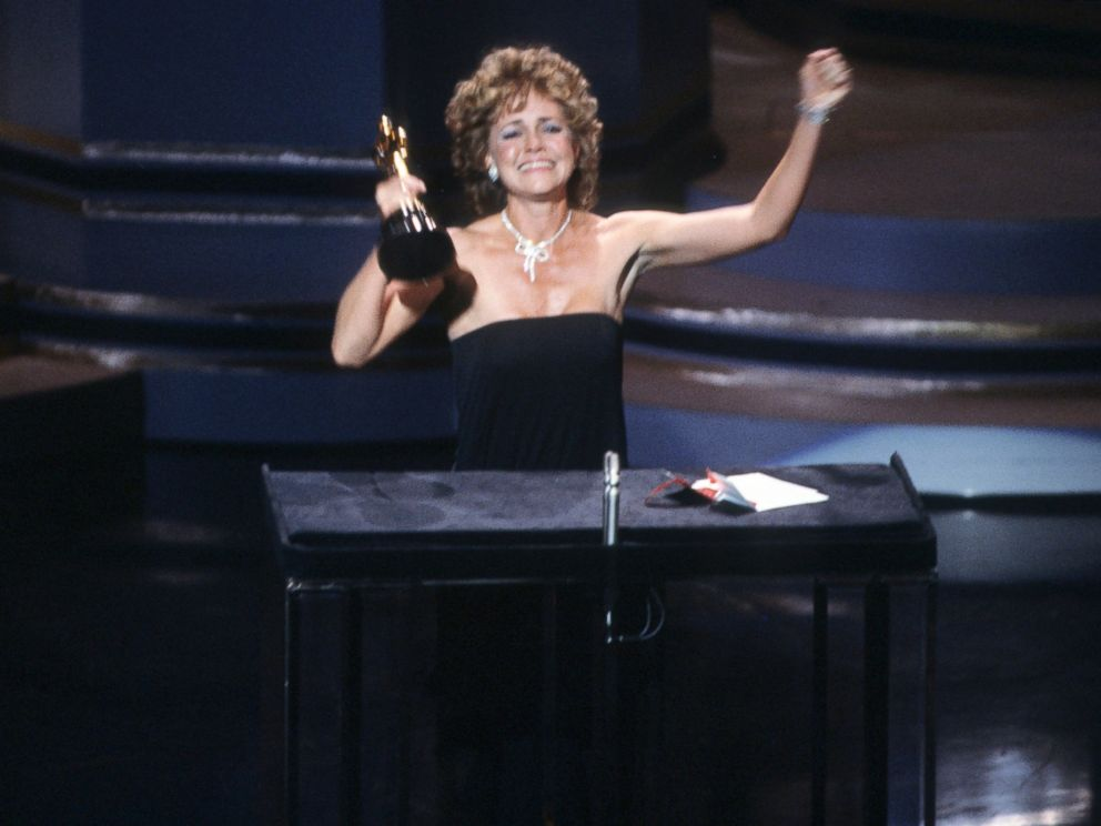 PHOTO: Sally Field accepts the best actress Oscar for her role in Places in the Heart, March 25, 1985, during the 57th Academy Awards in Los Angeles.
