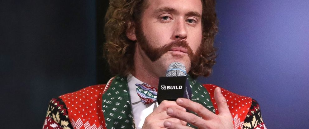 PHOTO: T.J. Miller attends Build Presents to discuss Office Christmas Party at AOL HQ, Dec. 5, 2016 in New York City.