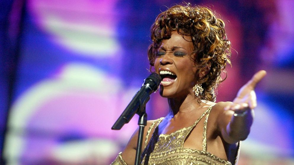 Whitney Houston is seen performing on stage during the 2004 World Music Awards at the Thomas and Mack Center, Sept. 15, 2004, in Las Vegas, Nevada.