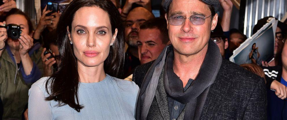 PHOTO: Angelina Jolie and Brad Pitt arrive to City Cinemas, on Nov. 3, 2015, in New York City.