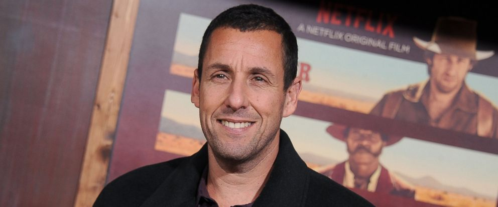 "PHOTO: Actor Adam Sandler arrives at the premiere of Netflixs ""The Ridiculous 6"" at AMC Universal City Walk on Nov. 30, 2015 in Universal City, Calif."