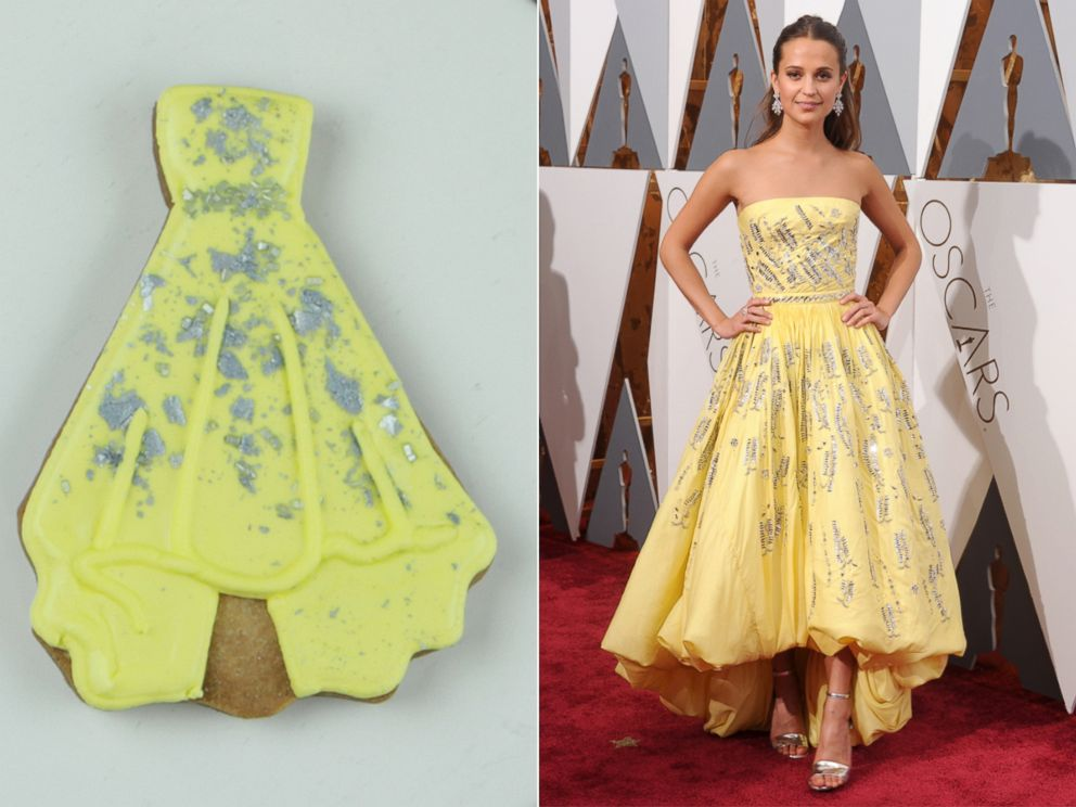 PHOTO: YouTuber turns celebs Oscar dresses into cookies.
