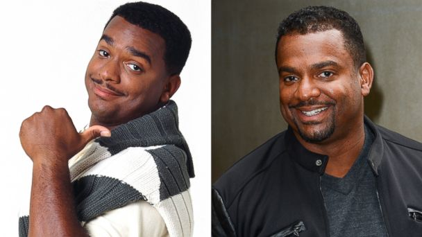 "Alfonso Ribeiro, left, as Carlton Banks in ""The Fresh Prince Of Bel-Air."" Alfonso Ribeiro, right, leaves the ""Today Show"" taping on May 29, 2013 in New York."