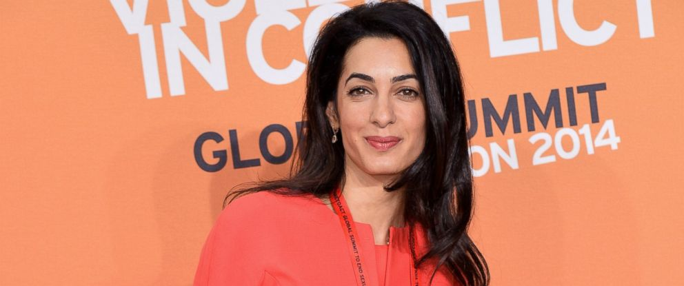 PHOTO: Amal Alamuddin attends the Global Summit to End Sexual Violence in Conflict at ExCel June 12, 2014, in London.