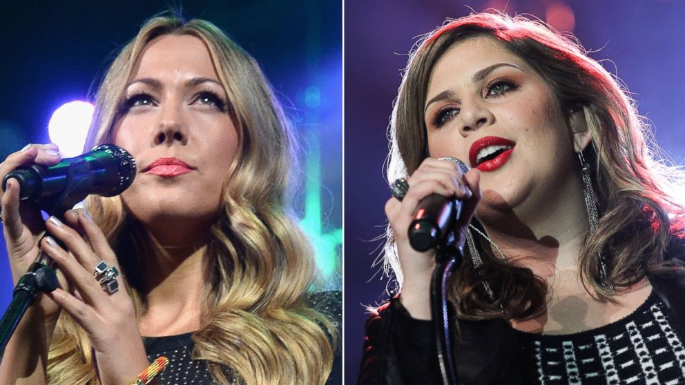 Left to right, Singer Colbie Caillat performs February 5, 2014 in New York City and Hillary Scott of Lady Antebellum performs February 25, 2015 in Nashville, Tennessee.