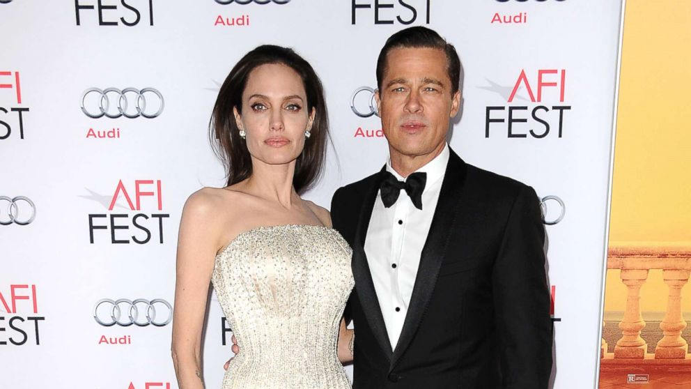 """In this file photo, Angelina Jolie and Brad Pitt attend the premiere of """"By the Sea"""" at the 2015 AFI Fest at TCL Chinese 6 Theatres, Nov. 5, 2015, in Hollywood, Calif."""