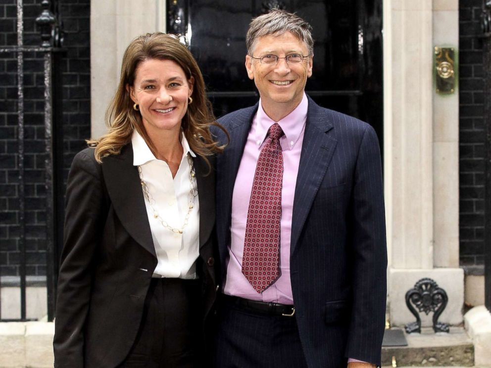 PHOTO: Melinda and Bill Gates pose for photographs outside Number 10 Downing Street, in this Oct. 18, 2010 file photo in London.