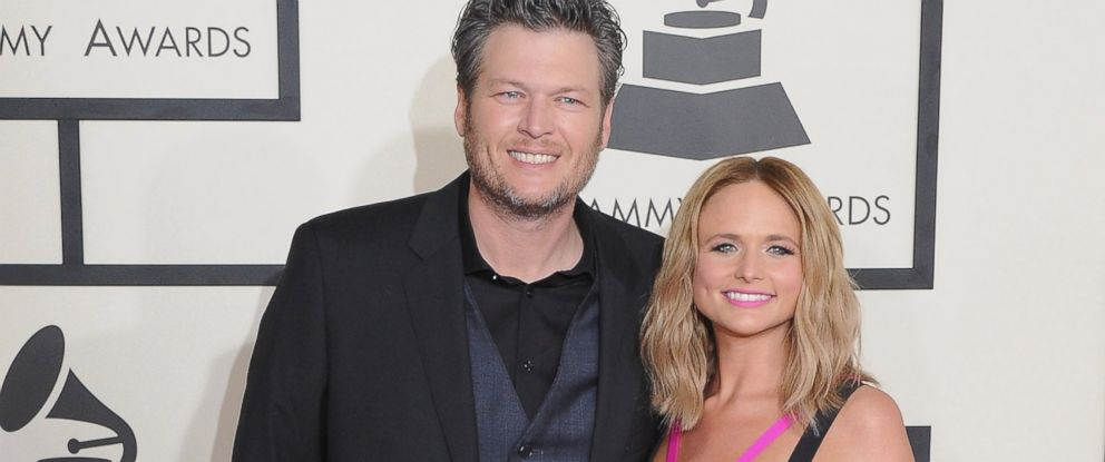 PHOTO: Blake Shelton and Miranda Lambert arrive at the 57th GRAMMY Awards at Staples Center, Feb. 8, 2015, in Los Angeles.
