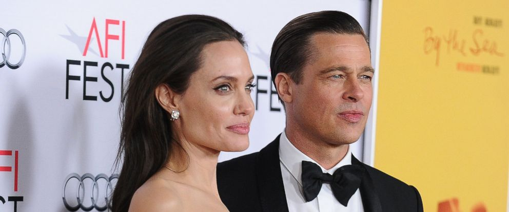 """PHOTO: Angelina Jolie and Brad Pitt attend the premiere of """"By the Sea"""" at the 2015 AFI Fest at TCL Chinese 6 Theaters on Nov. 5, 2015 in Hollywood, California."""