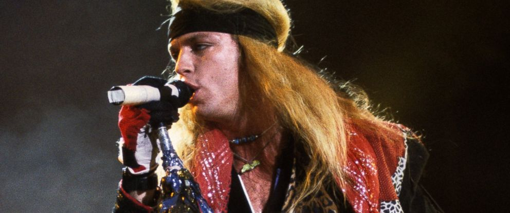 PHOTO: Bret Michaels performs with Poison in the early 1990s.