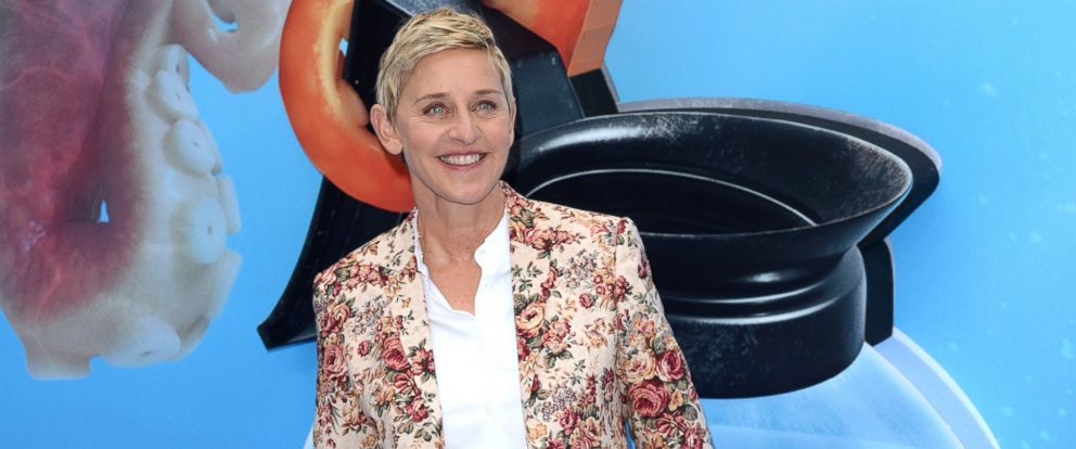 """PHOTO: Ellen DeGeneres attends the UK Premiere of """"Finding Dory"""" at Odeon Leicester Square, July 10, 2016, in London."""