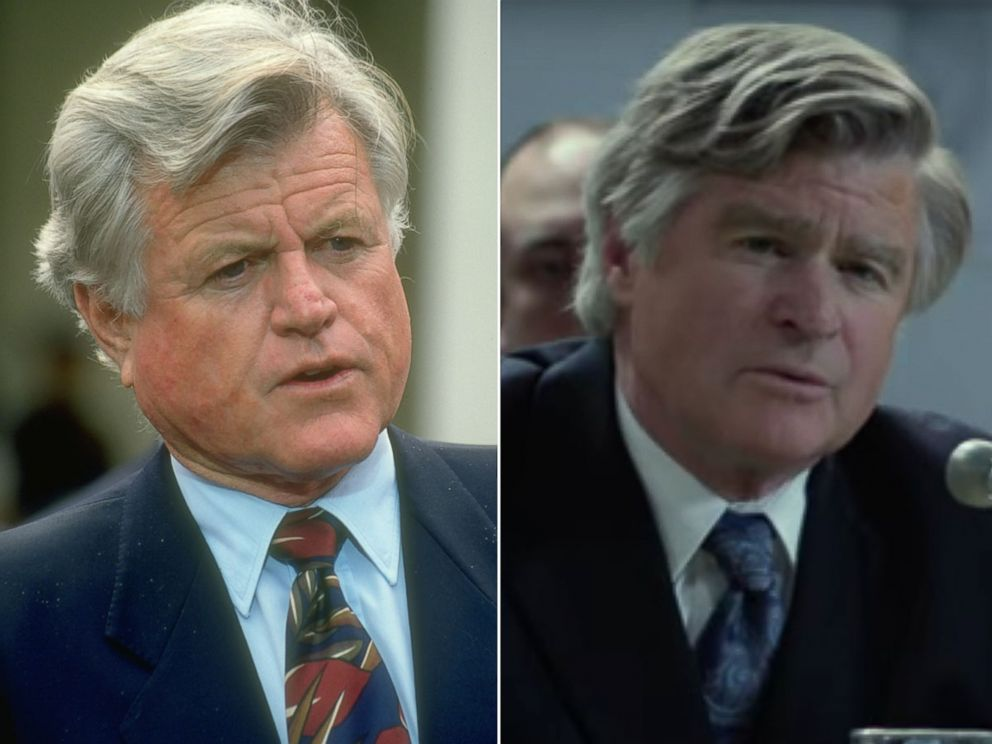 PHOTO: Ted Kennedy, left, is played by Treat Williams, right, in HBOs film, Confirmation.