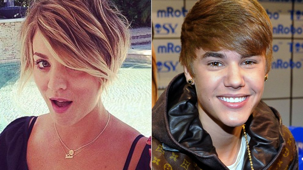 Big Bang Theory Star Kaley Cuoco Sweeting Do I Look Like Justin Bieber Abc News