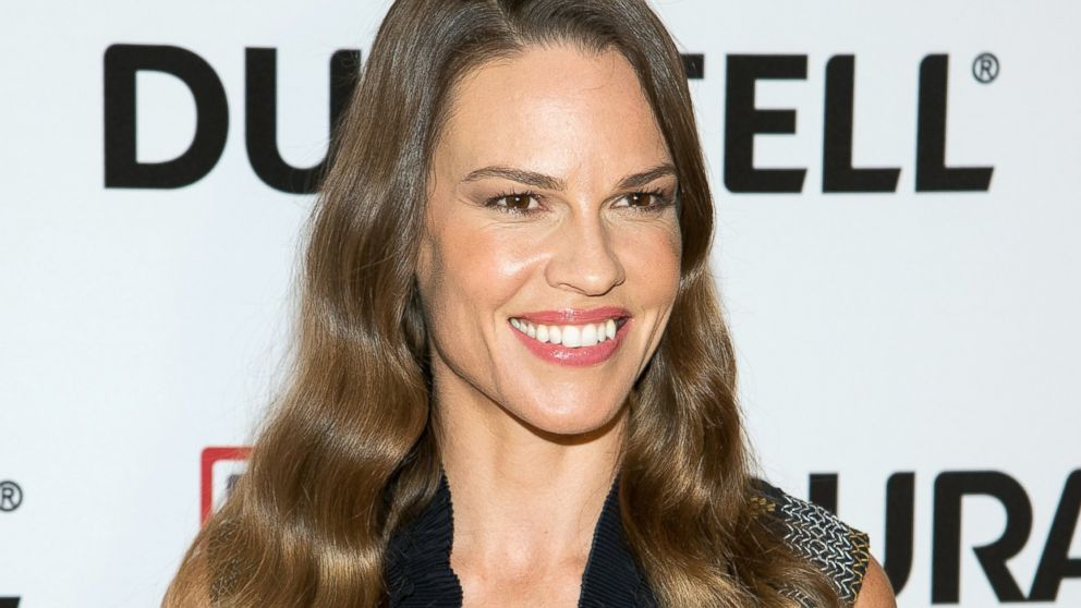 "Actress Hillary Swank attends USO's ""Comfort Crew for Military Kids"" at Times Center,  July 2, 2015 in New York."