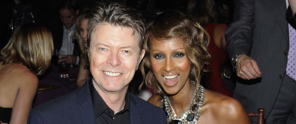 PHOTO: David Bowie and Iman inside Keep A Child Alives 5th annual Black Ball at Hammerstein Ballroom, on Nov. 13, 2008, in New York City.