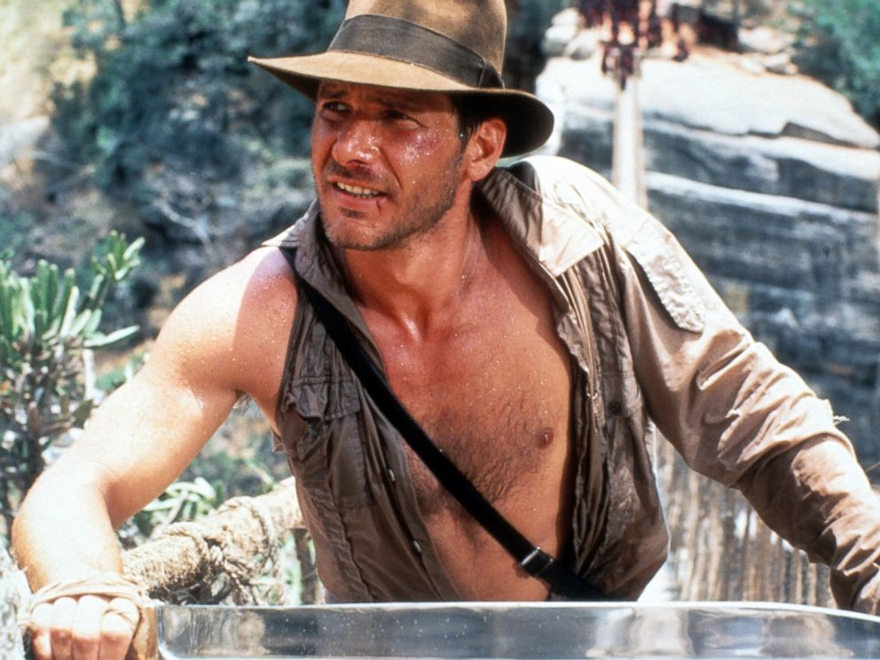 PHOTO: Harrison Ford in a scene from the film Indiana Jones And The Temple Of Doom, in1984.