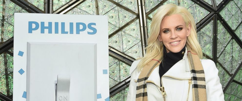 """PHOTO: Media personality Jenny McCarthy poses for a picture during """"Dick Clarks New Years Rockin Eve With Ryan Seacrest 2016"""" - Rehearsals, Dec. 30, 2015, in New York."""