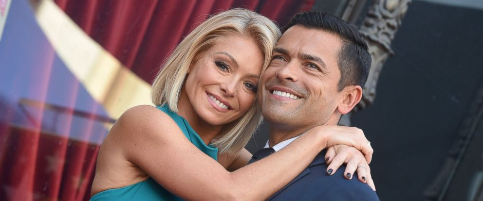 PHOTO: Kelly Ripa and Mark Consuelos attend the ceremony honoring Kelly Ripa with a star on the Hollywood Walk of Fame on Oct. 12, 2015 in Hollywood, Calif.