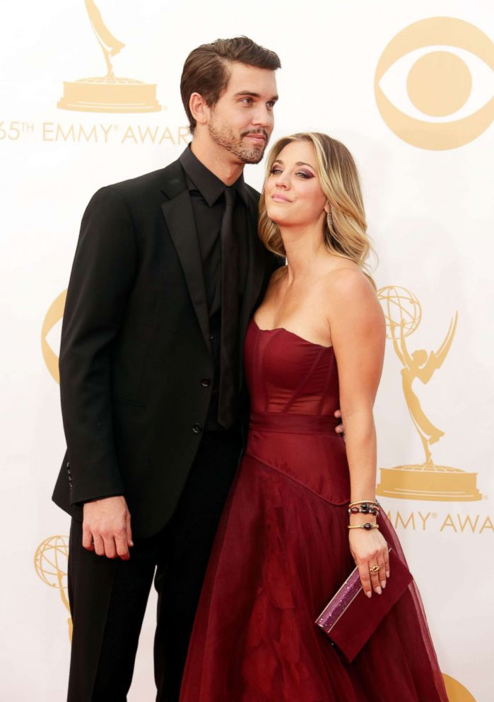 PHOTO: Ryan Sweeting and Actress Kaley Cuoco arrive at the 65th Annual Primetime Emmy Awards held at Nokia Theatre L.A. Live , Sept. 22, 2013, in Los Angeles.