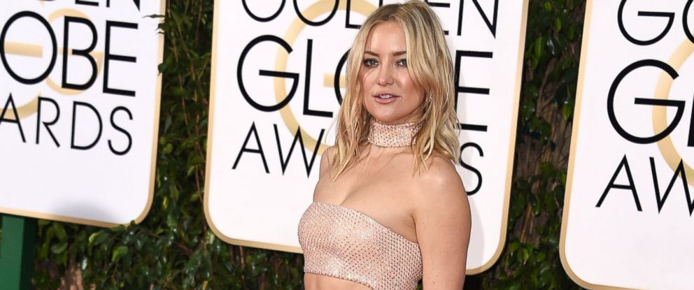 PHOTO: Kate Hudson arrives at the 73rd Annual Golden Globe Awards at The Beverly Hilton Hotel on Jan. 10, 2016 in Beverly Hills, California.