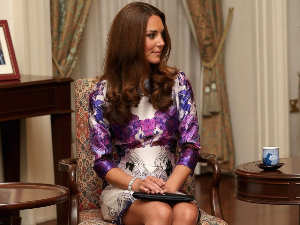 PHOTO:Catherine, Duchess of Cambridge, wearing a Prabal Gurung dress, on September 11, 2012 in Singapore.