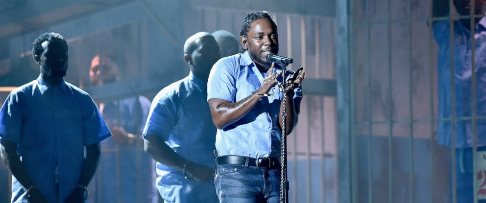 PHOTO: Kendrick Lamar performs onstage during The 58th GRAMMY Awards, Feb. 15, 2016 in Los Angeles.